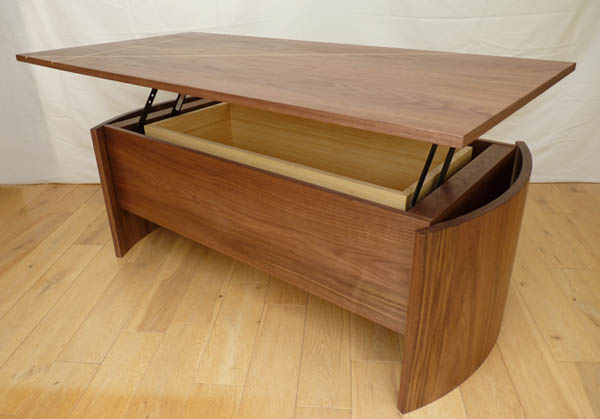 Salvedge Design Gallery Walnut Lifting Coffee Table